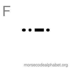 Morse Code Alphabet Flashcards f