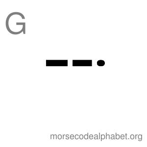 Morse Code Alphabet Flashcards g