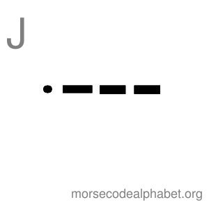 Morse Code Alphabet Flashcards j