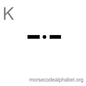 Morse Code Alphabet Flashcards k