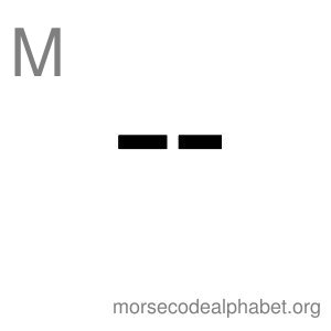 Morse Code Alphabet Flashcards m