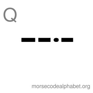 Morse Code Alphabet Flashcards q