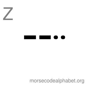 Morse Code Alphabet Flashcards z