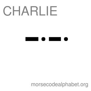 Morse Code Telephony Flashcards Charlie