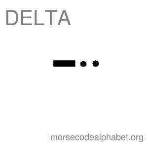 Morse Code Telephony Flashcards Delta