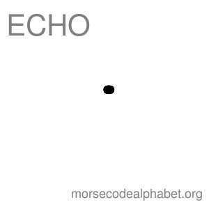 Morse Code Telephony Flashcards Echo