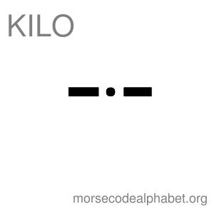 Morse Code Telephony Flashcards Kilo