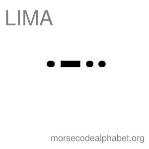 Morse Code Telephony Flashcards Lima