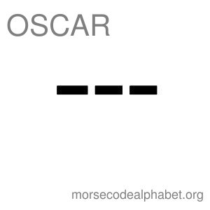 Morse Code Telephony Flashcards Oscar