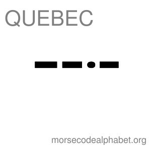 Morse Code Telephony Flashcards Quebec