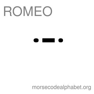Morse Code Telephony Flashcards Romeo