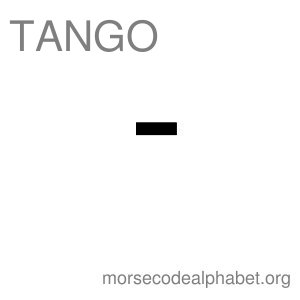 Morse Code Telephony Flashcards Tango