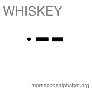 Morse Code Telephony Flashcards Whiskey