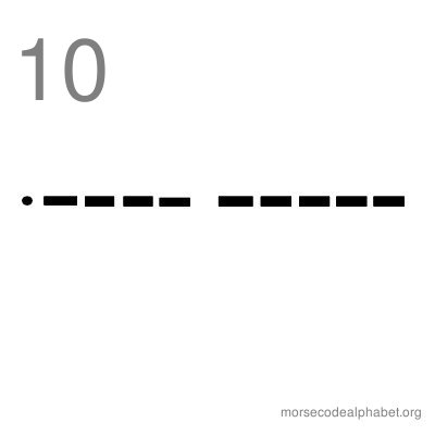 Morse Code Number Flashcards 10