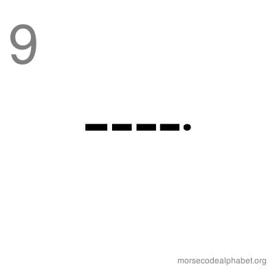 Morse Code Number Flashcards 9